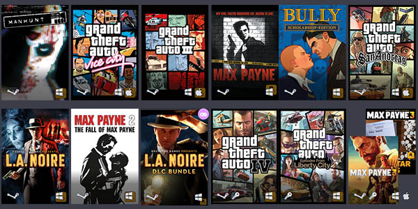 Rockstar Games Humble Bundle