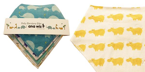 Set de 5 baberos de algodón con diseño exclusivo de Ana Wiz