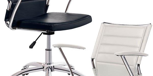 silla escritorio regulable con ruedas confortable y acolchada DueHome Life