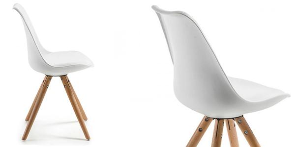 sillas comedor réplica Eames patas madera polipropileno