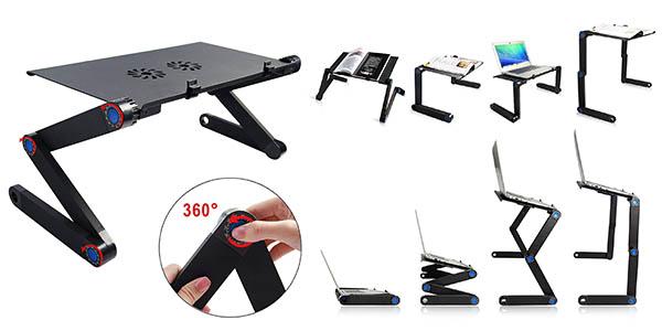 soporte pantalla ordenador regulable altura con espacio adicional para el ratón