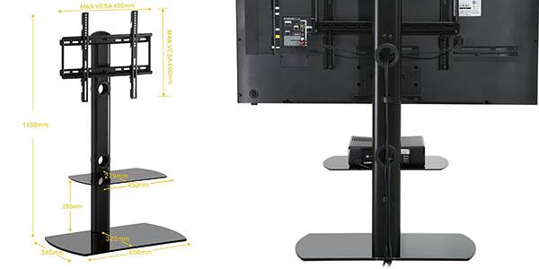 soporte televisor aparatos sin cables a la vista relación calidad-precio genial