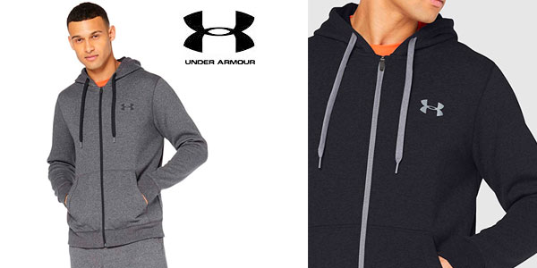 Sudadera Under Armour RIval Fitted Full barata en Amazon