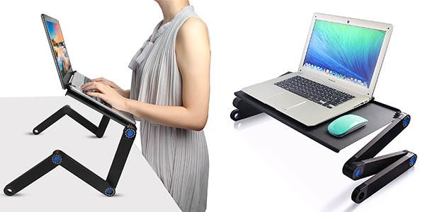 Tree.NB mesa regulable para portátil con ventilador de refrigeración USB oferta