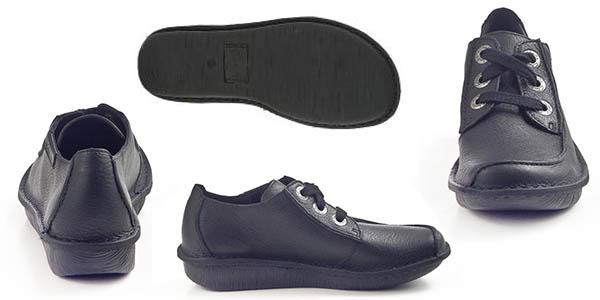 zapatos Clarks Funny Dream cómodos piel negra precio brutal