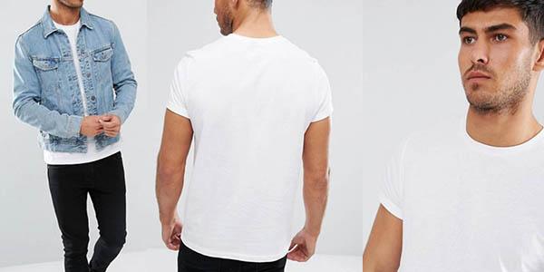 3 camisetas de algodón y manga corta para hombre Asos baratas