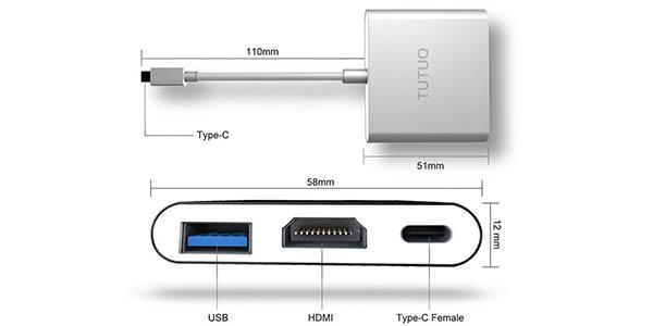Adaptador Nintendo Switch USB C a HDMI para conectarla a la TV sin dock barato