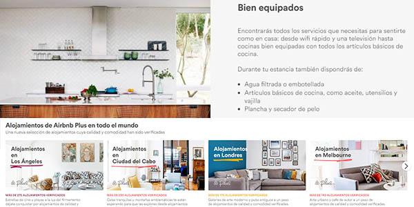 Airbnb alojamientos Plus con genial relación calidad-precio
