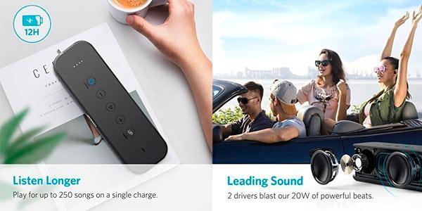 Altavoz Bluetooth Anker con buena autonomía a buen precio en Amazon
