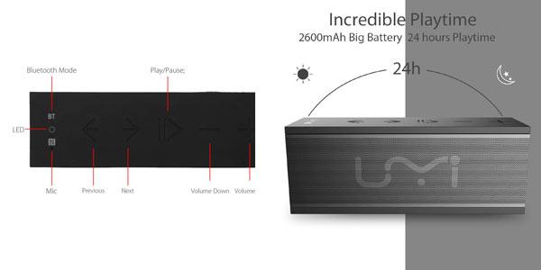 Altavoz portatil inalambrico Bluetooth por menos de 15€