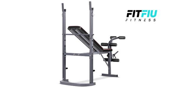 Banco de musculación y entrenamiento fitness piernas brazos de FitFiu chollazo en eBay España