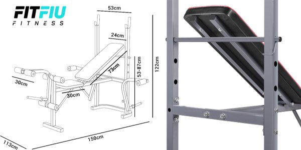 Banco de musculación y entrenamiento fitness piernas brazos de FitFiu chollo en eBay España