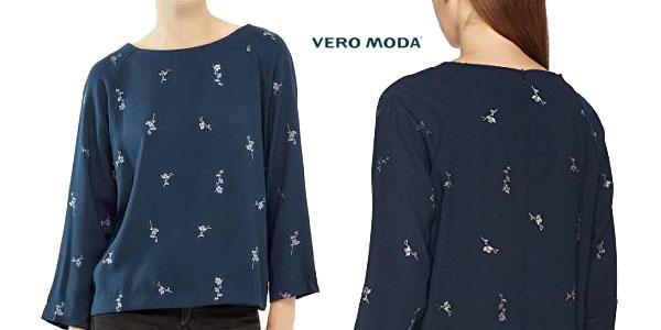 Blusa Fiona de Vero Moda para mujer en color negro o azul chollo en Amazon Moda