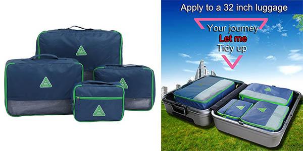 bolsas para organizar la maleta en tela resistente e impermeable baratas