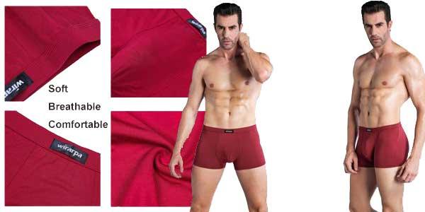 Pack de 4 boxers Wirarpa stretch con muy buenas valoraciones chollazo en Amazon Moda