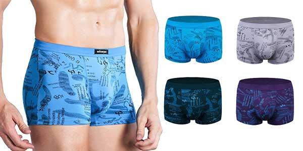 Pack de 4 boxers Wirarpa stretch con muy buenas valoraciones chollo en Amazon Moda