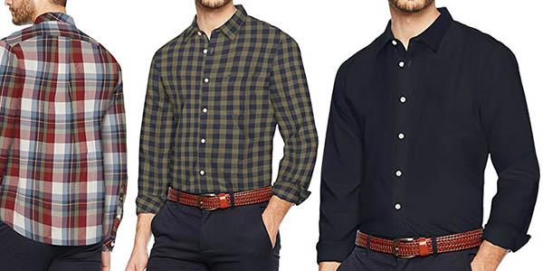 camisa de cuadros para hombre Dockers Laundered Poplin con gran relación calidad-precio