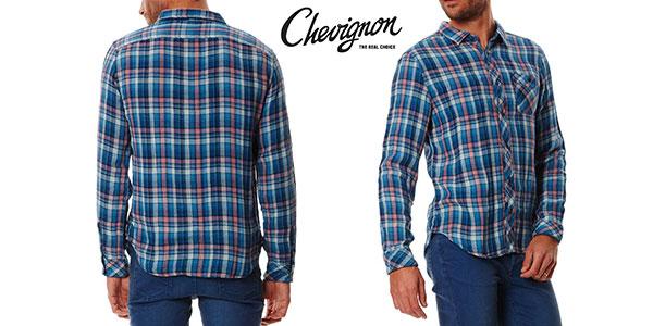 Camisa de leñador Chevignon Indian Pink azul para hombre en oferta