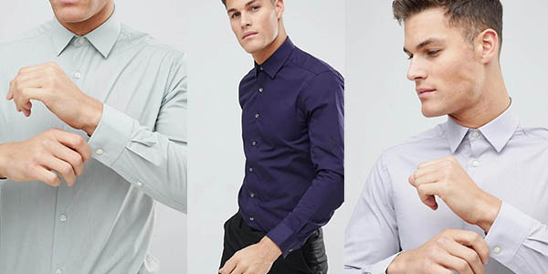 camisa popelina de diseño actual French Connection oferta