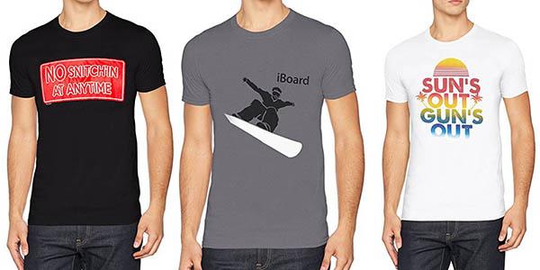 camisetas manga corta para hombre FM London chollo