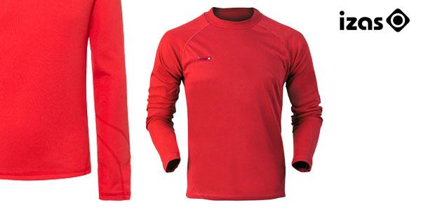 Camiseta térmica Izas Nelion para hombre en color negro o rojo chollo en eBay España