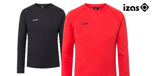 Camiseta térmica Izas Nelion para hombre en color negro o rojo barata en eBay España