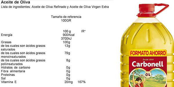 Carbonell Aceite de oliva suave de 5 litros a precio brutal