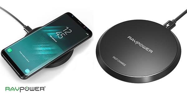 Cargador inalámbrico rápido RAVPower 10W para iPhone X / 8, Samsung S8