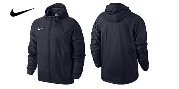 Chaqueta Nike Team Sideline Rain Jacket impermeable hidrófuga con Dri-FIT en color azul oscuro chollo en Amazon