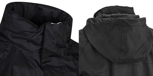 Chaqueta impermeable Trespass Nabro de color negro en oferta