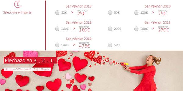 descuentos tarjeta regalo vuelos Iberia febrero 2018