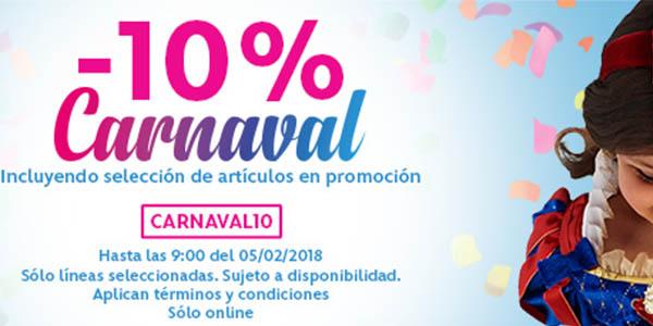 Disney Store cupón descuento CARNAVAL10 febrero 2018