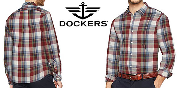 Dockers Laundered Poplin Shirt LS camisa de estilo casual para hombre oferta