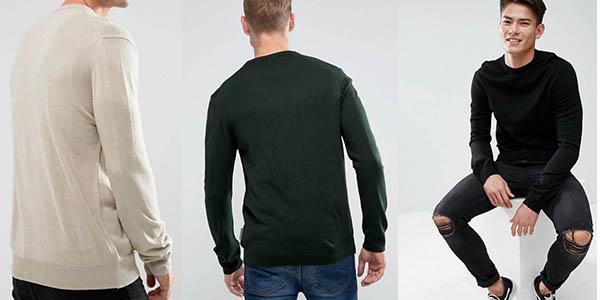 jersey algodón con cuello redondo French Connection de diseño versátil chollo