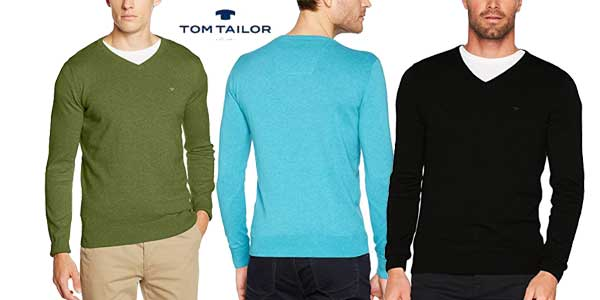 Suéter de pico Tom Tailor Basic V-Neck oferta en Amazon Moda