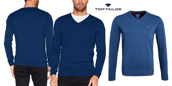 Suéter de pico Tom Tailor Basic V-Neck barato en Amazon Moda