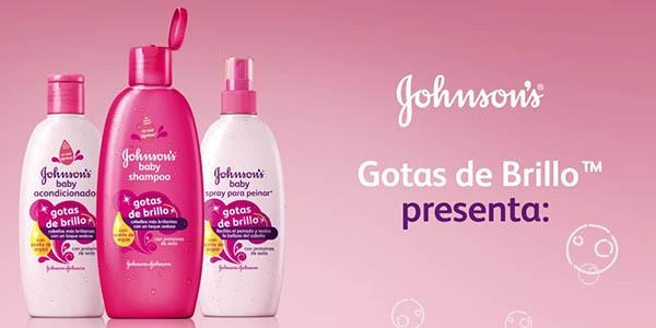 Johnson's Baby Gotas de Brillo champú pack 6 botes 500 ml a precio brutal