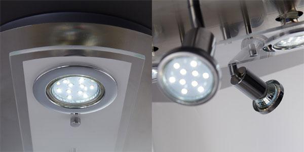 Lámpara de techo LED B.K. Licht con 2 focos fijos y 2 orientables chollazo en Amazon