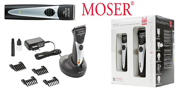 Moser Pack máquina Cortapelo Chromstyle Pro y máquina Chromini Pro en oferta