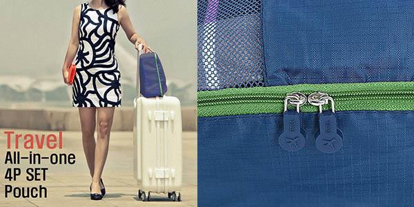 organizadores de equipaje en diferentes medidas con genial relación calidad-precio