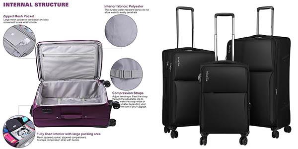 Pack 3 maletas WindTook oferta flash Amazon