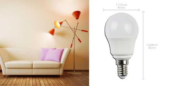 Pack de 5 bombillas esféricas Aigostar LED A5 G45 chollazo en Amazon