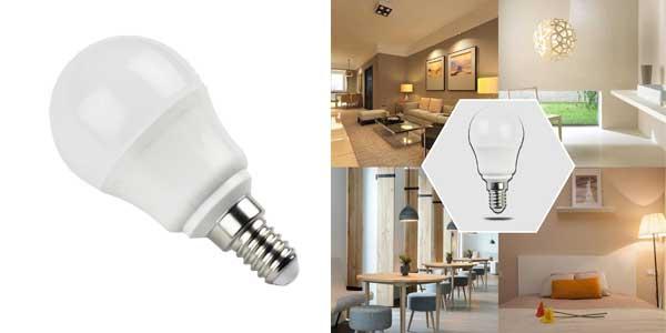 Pack de 5 bombillas esféricas Aigostar LED A5 G45 chollo en Amazon