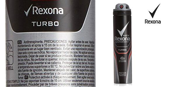 Pack 6 unidades de desodorante Rexona turbo para hombre chollazo en Amazon