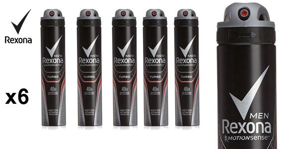 Pack 6 unidades de desodorante Rexona turbo para hombre barato en Amazon