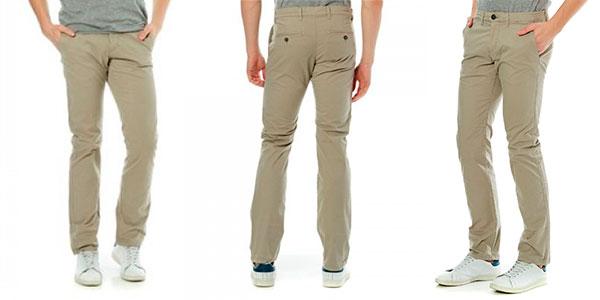 Pantalones chinos Celio Dotalia de color gris arenoso para hombre en oferta