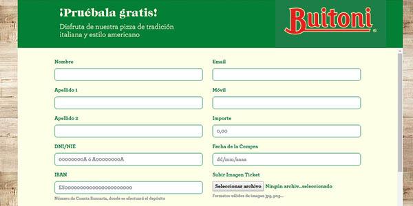pizza Buitoni American Style gratis en promoción
