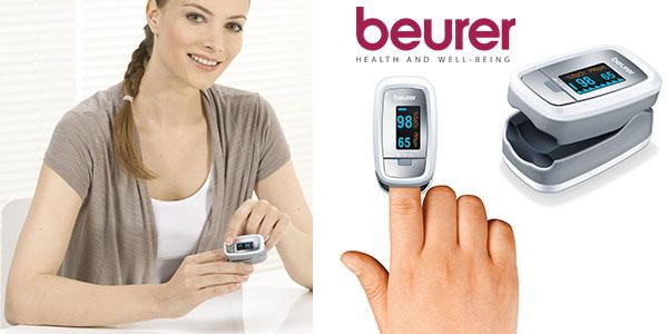 Pulsioxímetro de dedo Beurer PO-30 con pantalla de 4 vistas barato