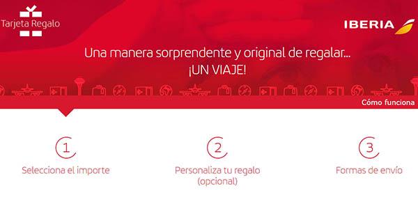 regalar bono para canjear por vuelos de Iberia con grandes descuentos