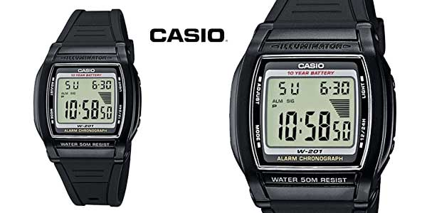 Reloj Casio Collection W-201-1AVEF para mujer barato en Amazon Moda